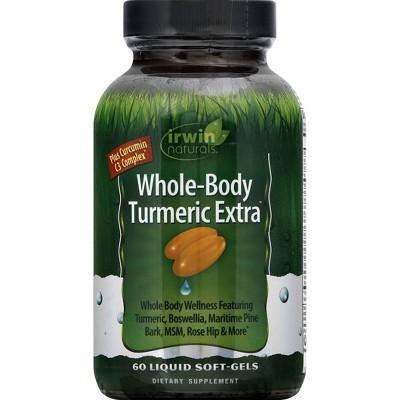 irwin naturals Whole-Body Turmeric Extra Dietary Supplement Liquid Softgels - 60ct
