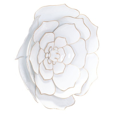 ZM Home 22  Floral Wall Sculpture White