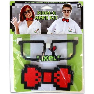 Pixel-8 Nerd Costume Kit Adult
