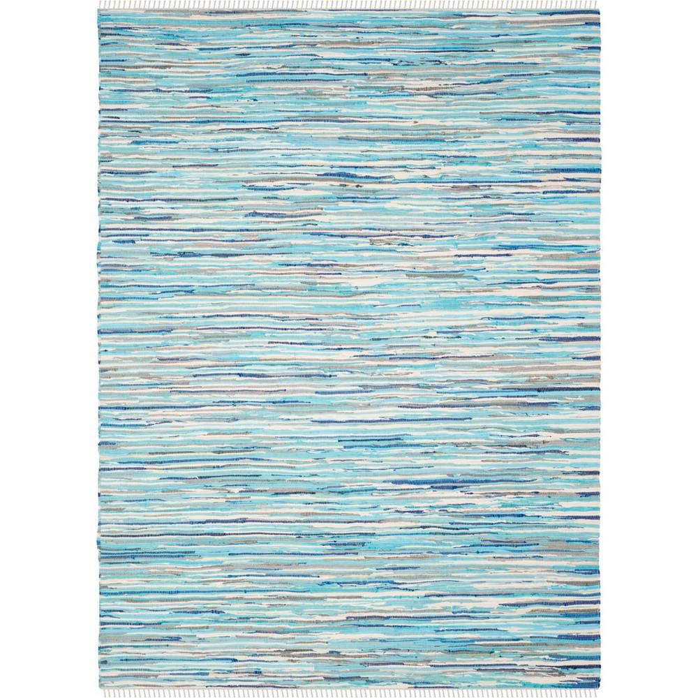 5'X8' Spacedye Design Woven Area Rug Turquoise - Safavieh, Turquoise/Multi-Colored