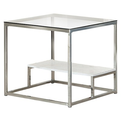 Tressie End Table White/Chrome - HOMES: Inside + Out