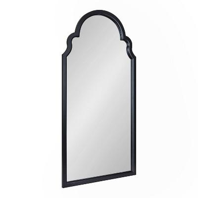 "24"" x 48"" Hogan Arch Wall Mirror Black - Kate & Laurel All Things Decor"