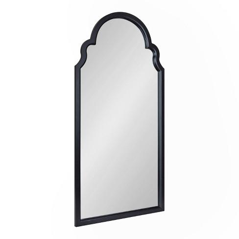 "24"" x 48"" Hogan Arch Wall Mirror Black - Kate & Laurel All Things Decor - image 1 of 4"