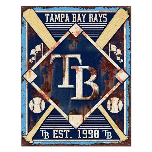 MLB Tampa Bay Rays Metal Sign - image 1 of 1
