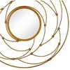 Majestic Mirror Round Contemporary Gold Leaf Metal Decorative Accent Mirror - image 2 of 4