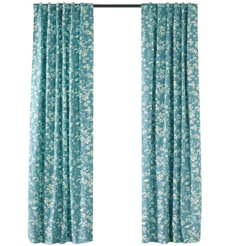 "Floral Rod-Pocket Insulated Curtain Panel 42"" W x 96"" L - Plow & Hearth - image 1 of 2"
