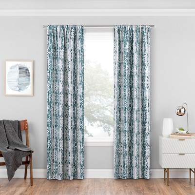 Delaney Thermaweave Blackout Curtain Panels Ocean Blue 84  - Eclipse