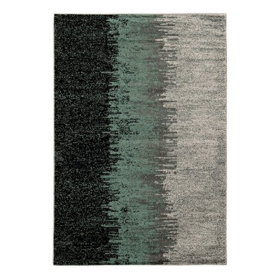 Turquoise Ombre Design Knotted Area Rug 8'X10' - Linon