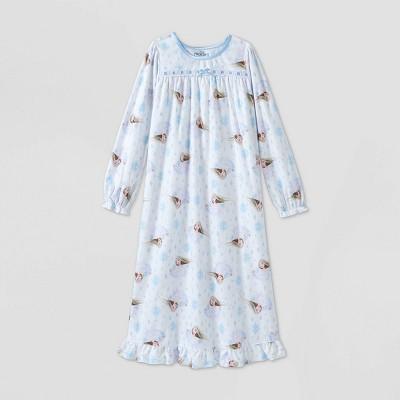 Girls' Frozen Elsa Granny Nightgown - White S