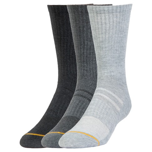 Signature Gold by GOLDTOE® Men's 3pk Cushion Crew Sock - Gray 6-12 - image 1 of 2