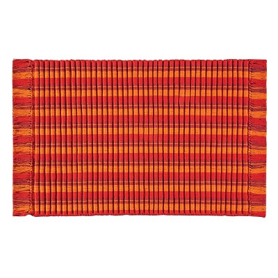 3'x5' Rectangle Indoor and Outdoor Stripe Accent Rug Red - C&F Home