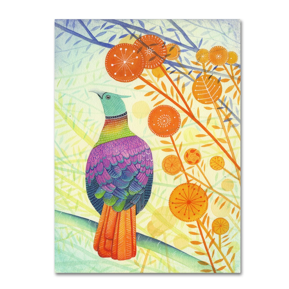 'Pheasant' by Michelle Campbell Ready to Hang Canvas Wall Art, Multicolored