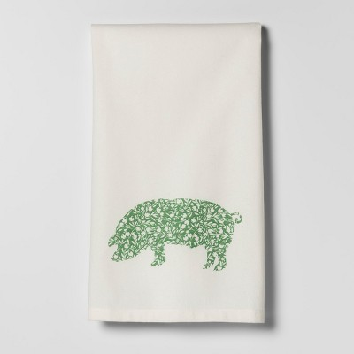 Green Pig Kitchen Towel - Threshold™