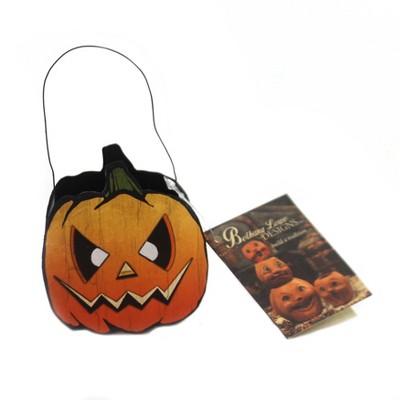"Halloween 2.75"" Spooky Jack-O-Lantern Bucket Tin Vintage  -  Decorative Figurines"