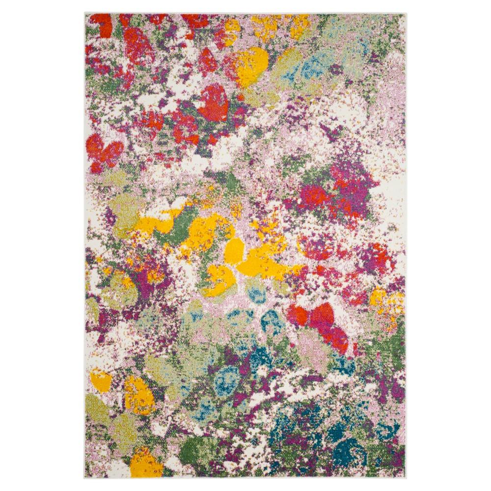 Light Green/Rose Splatter Loomed Area Rug 8'X10' - Safavieh, Light Green/Pink