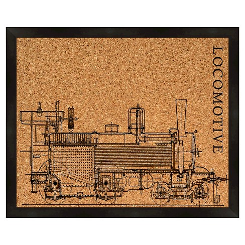 Cork Board Wall Art Locomotive