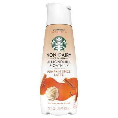 Starbucks Pumpkin Spice Flavored Almondmilk & Oatmilk Non-Dairy Liquid Coffee Creamer - 1.75pt