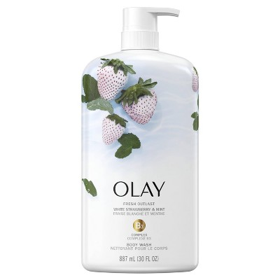 Olay Fresh Outlast Body Wash White Strawberry & Mint 30 fl oz