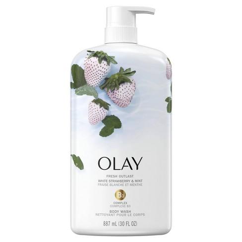 Olay Fresh Outlast Body Wash White Strawberry & Mint 30 fl oz - image 1 of 4