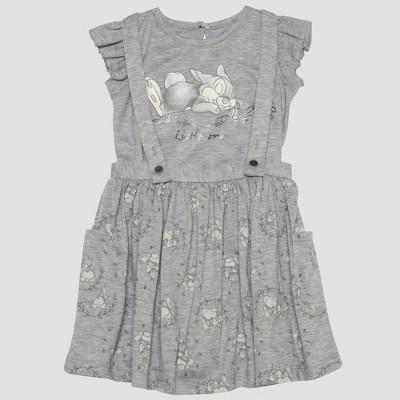 Toddler Girls' 2pc Disney Bambi Thumper Short Sleeve T-Shirt and Skirt Set - Gray 18M