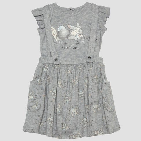 Toddler Girls' 2pc Disney Bambi Thumper Short Sleeve T-Shirt and Skirt Set - Gray - image 1 of 5