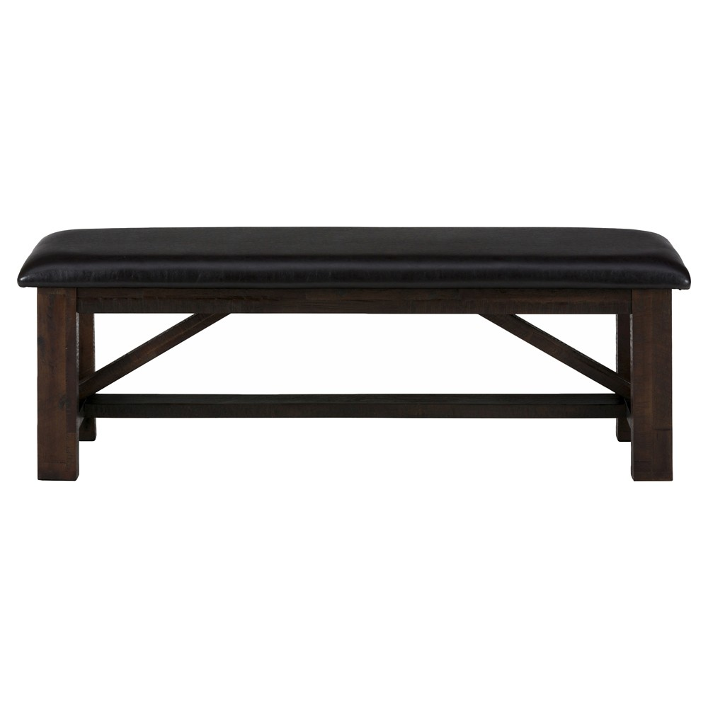 Kona Grove Upholstered Bench Wood/Brown - Jofran Inc.