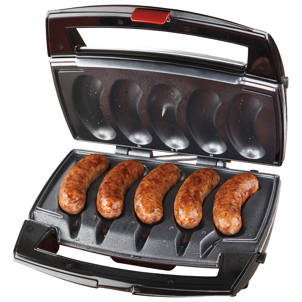 Johnsonville Indoor Sizzling Sausage Grill With Drip Tray, Silver 52597008