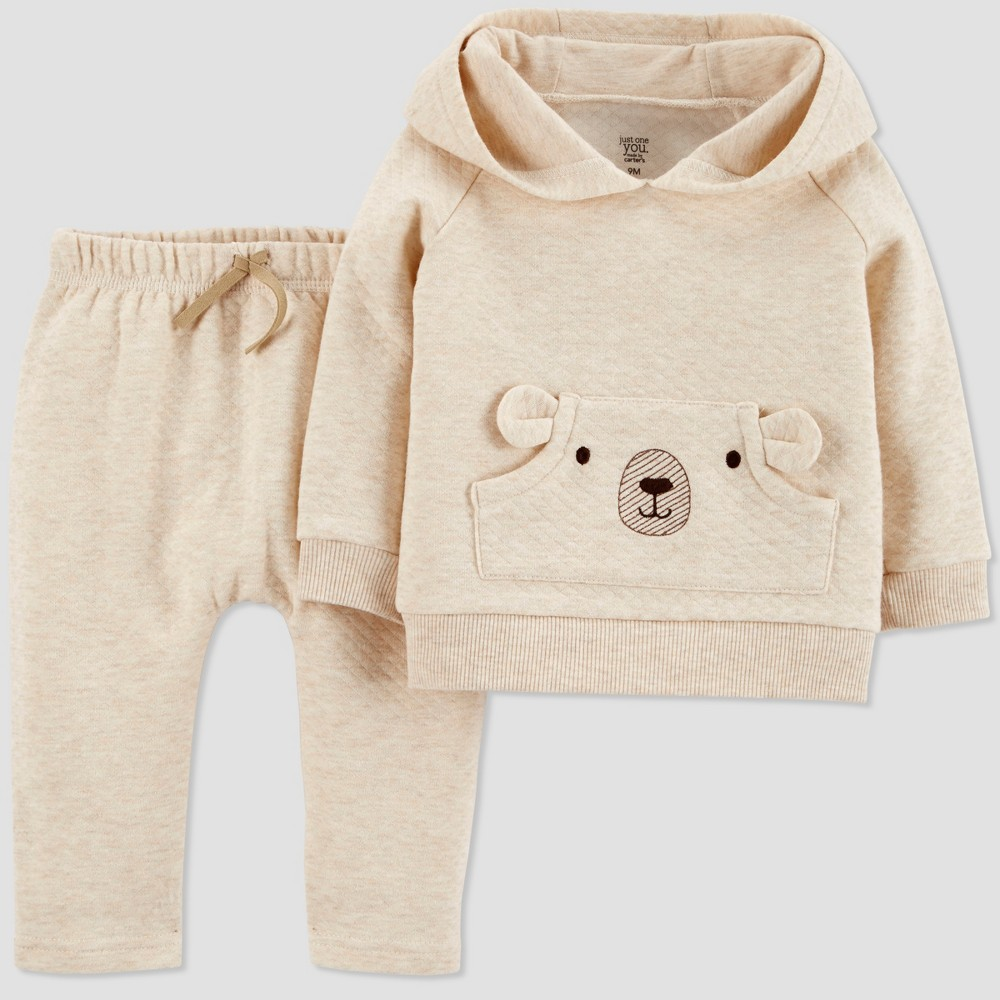 Baby Boys' 2pc Collection Set - Just One You made by carter's Latte Newborn, Brown