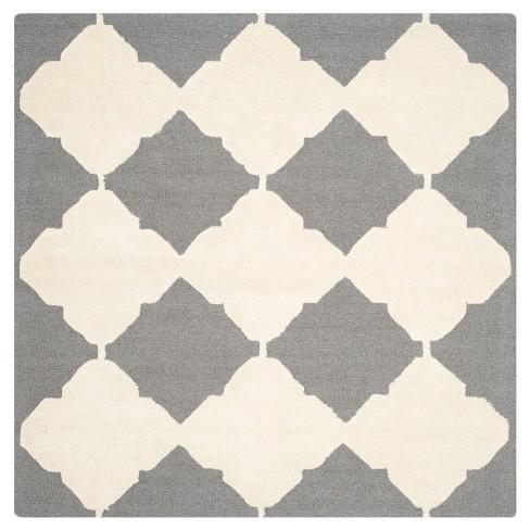 Lanie Area Rug - Dark Gray/Ivory (6'x6' Square) - Safavieh® - image 1 of 2