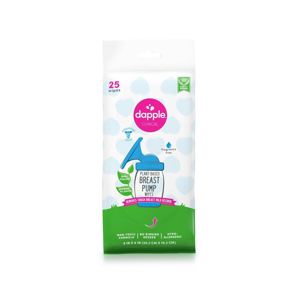 Image of Dapple Baby Breast Pump Cleaner Wipes - Fragrance Free