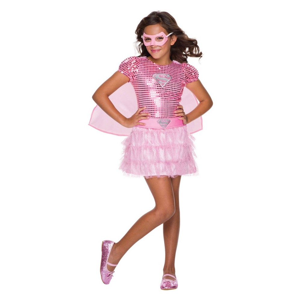 Image of Halloween DC Comics Toddler Girls' Pink Supergirl Tutu Dress Halloween Costume 4T - Rubie's, Girl's, Size: Small, MultiColored