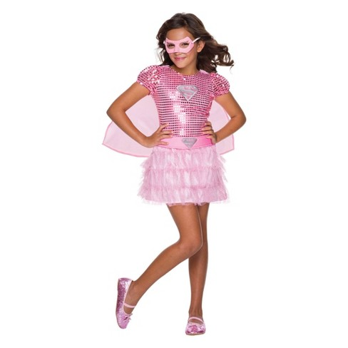 DC Comics Toddler Girls' Pink Supergirl Tutu Dress Halloween Costume 4T - Rubie's - image 1 of 1