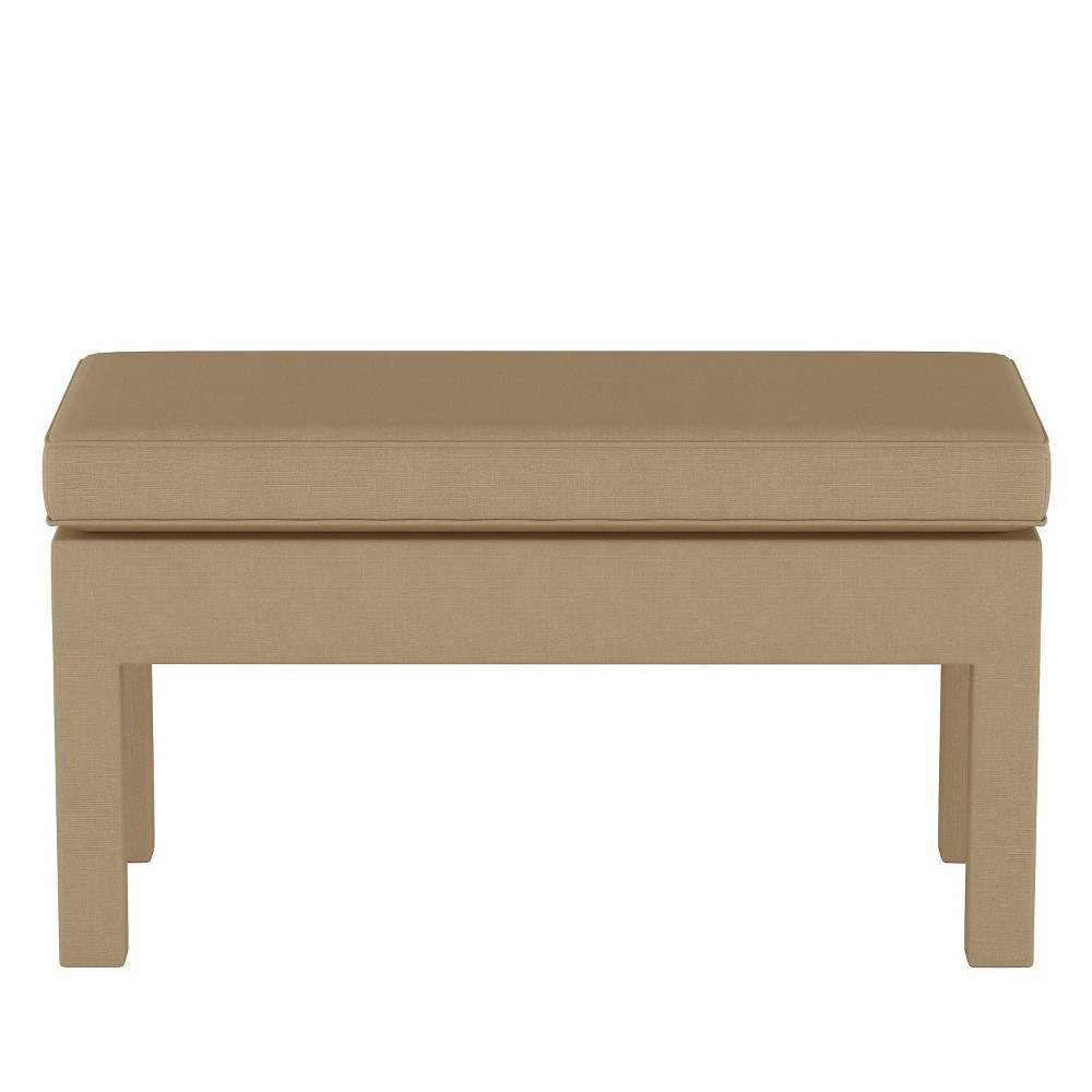 Upholstered Bench in Linen Sandstone Brown - Threshold