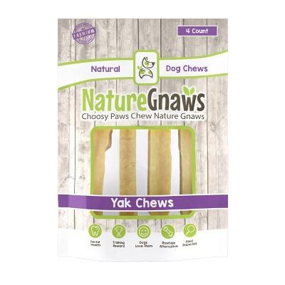 Nature Gnaws Medium Yak Cheese Dog Treats - 4ct