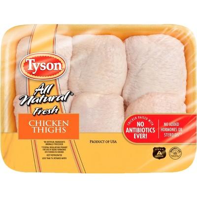 Tyson Bone-In Chicken Thighs - 1.58-2.69 lbs - price per lb