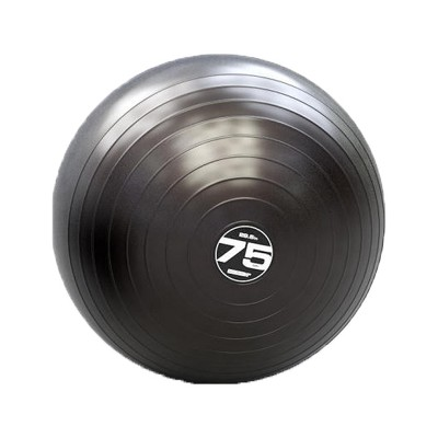 Escape Fitness Steadyball Pro Inflatable Exercise Workout Ball Equipment for Home or Gym Balance and Strength Gain, 75 Centimeters/28.5 Inches (Black)