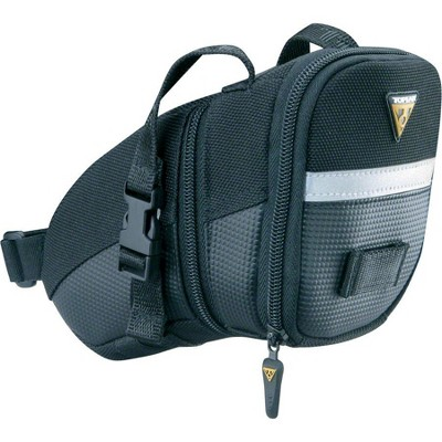 Topeak Aero Wedge Seat Bag: Strap-on, Medium, Black
