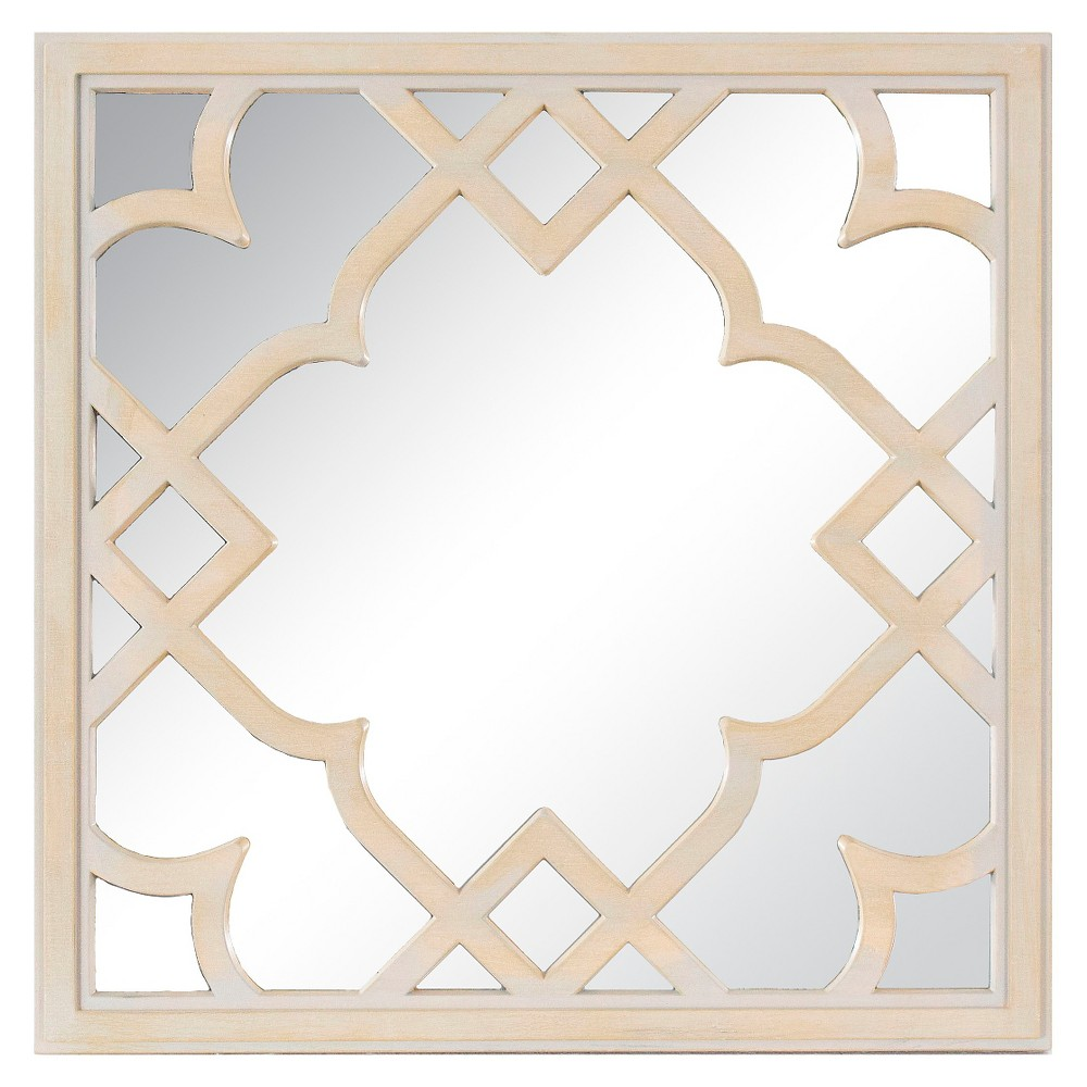 Wood Trellis Mirror - Brown 16 - Threshold