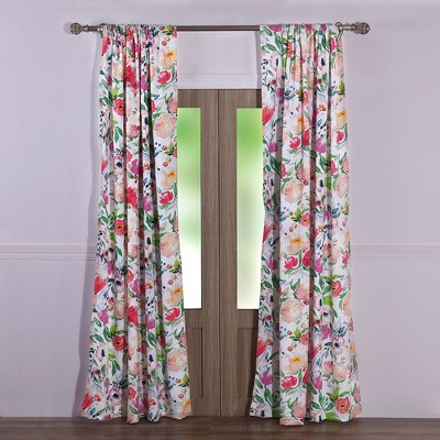 Barefoot Bungalow Blossom 2-Piece Window Curtain Panel - 42 x 84, Multicolored
