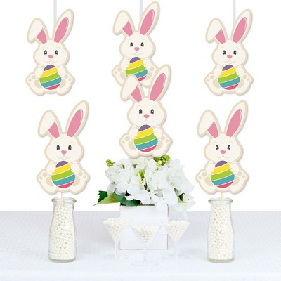 Big Dot of Happiness Hippity Hoppity - Bunny Decorations DIY Easter Party Essentials - Set of 20