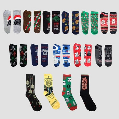 Men's Star Wars 15 Days of Socks Advent Calendar - Assorted Colors One Size