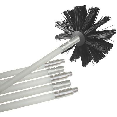 Deflect-O Deflecto Dryer Duct Cleaning Brush Kit 12' White/Black DEFDVBRUSH12K