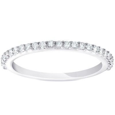 Pompeii3 1/4ct Diamond Wedding Ring 14k White Gold Stackable Womens Anniversary Band