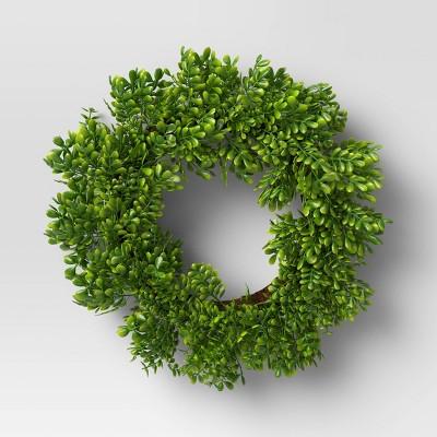 "12"" Artificial Boxwood Wreath - Threshold™"