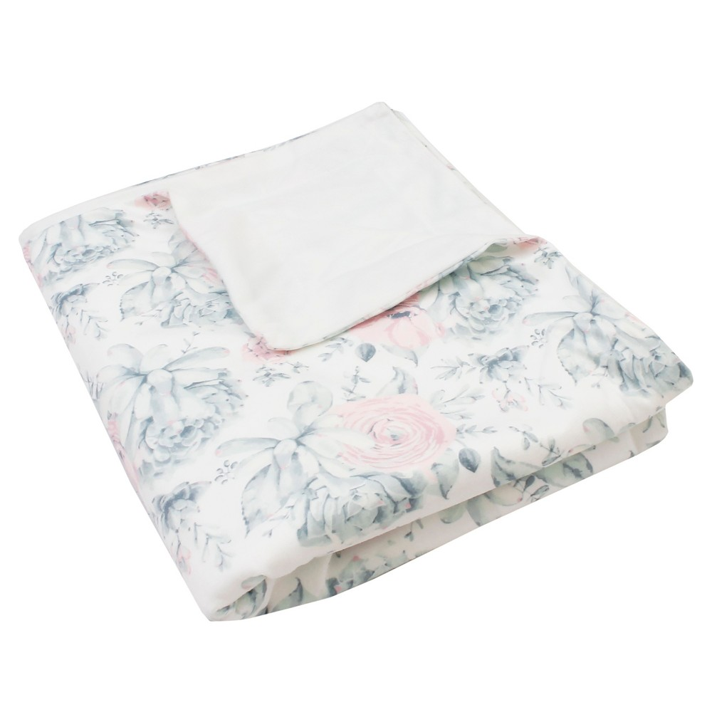 Image of Avia Succulent Throw Blanket White - Décor Therapy