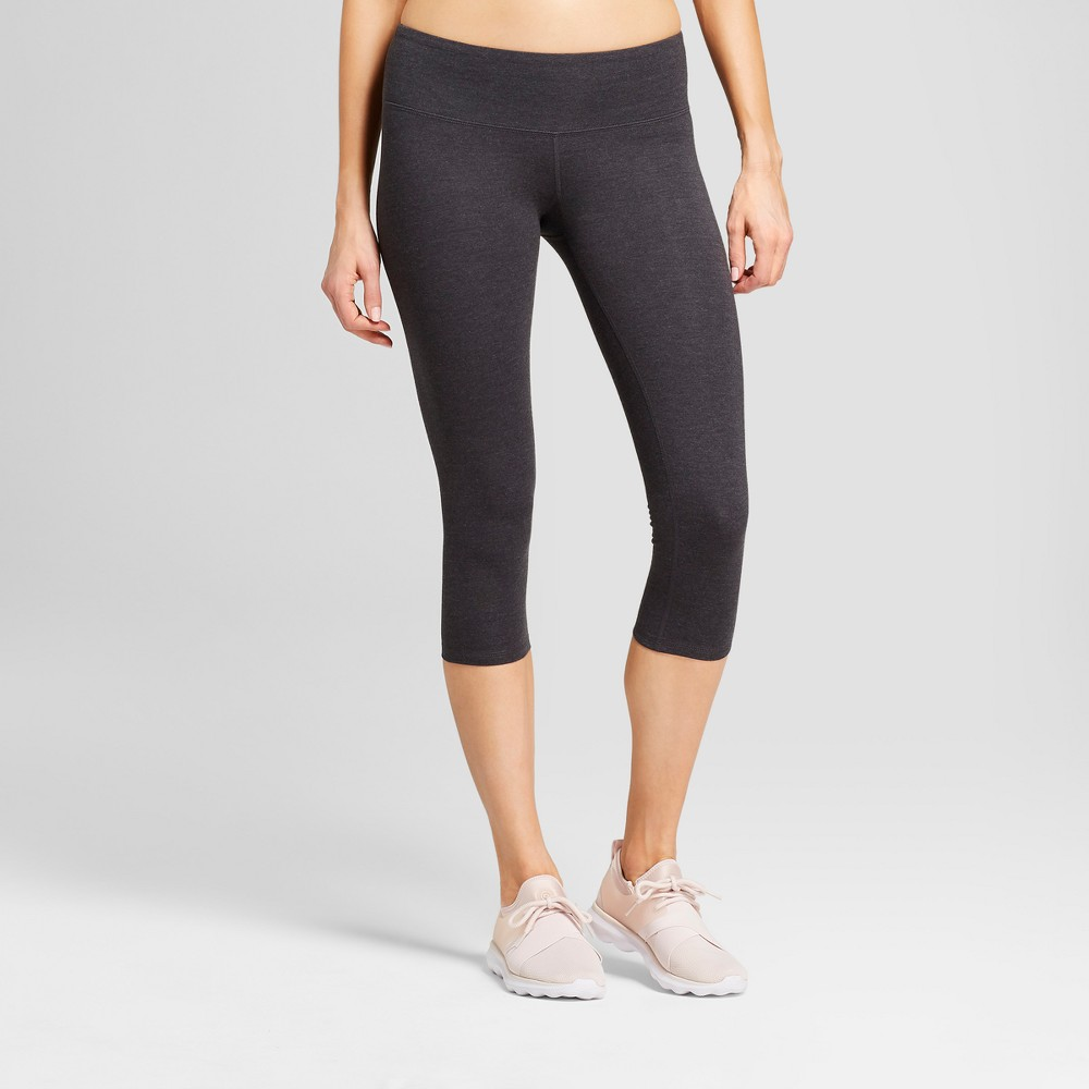 Women's Cotton Mid-Rise Capri Leggings 20 - C9 Champion Dark Heather Gray S