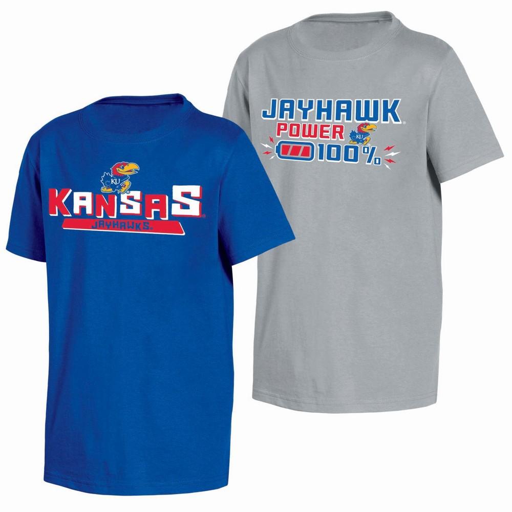 NCAA Toddler Boys' 2pk T-Shirt Kansas Jayhawks - 4T, Multicolored