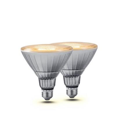 2pk LUX FLOOD Smart Wi-Fi LED Flood Light Bulbs White - Geeni