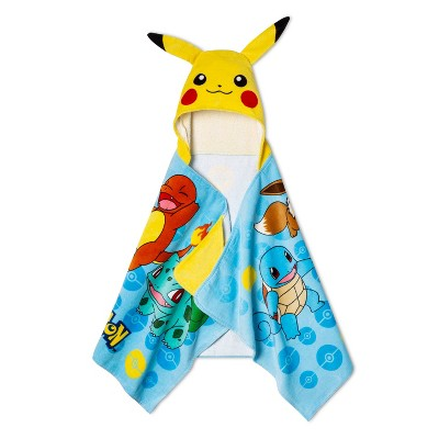 Pikachu Leap for Power Hooded Towel