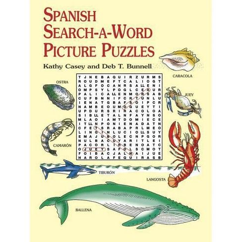 Spanish Search-A-Word Picture Puzzles - (Dover Children's Language Activity Books) (Paperback) - image 1 of 1